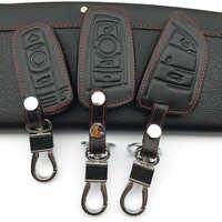 Carteras para llaves de coche cubierta estuche protector piel set para BMW e30 e36 e90 e60 e84 e39 e46 e90 e63 e53 F10 F30 x1 x3 x4 fob protector de mando a distancia
