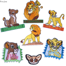 Prajna Lion king Patch Animals Iron On Embroidered Patches For Clothes Stripes Stickers GIZMO Gremlins Cartoon Cute Anime