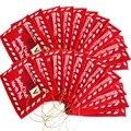 22 шт. рождественских конвертов в подарочную сумку Санта-Клауса  Подарочный держатель для денег  украшение для дерева