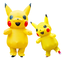 Pikachu Inflatable Costume Halloween Costumes for Women Kids Cosplay Anime Party