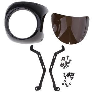 Image 5 - รถจักรยานยนต์ด้านหน้าไฟหน้าFairingกระจกกระจกพลาสติกUniversalสำหรับCafe RACERรถจักรยานยนต์Retroไฟหน้าหน้าจอลม