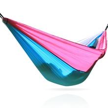 Promoção 260*140 cm parachute tecido hammock com um forte rolamento de carga acessórios precisa ser comprado separadamente