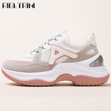 RIBETRINI New Autumn Concise Female Comfortable Brand Shoes Women Sneakers lace-up Flat