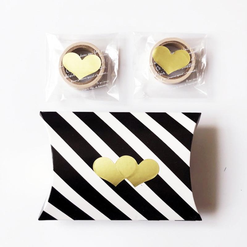 120pcs/lot Lovely Golden Heart Handmade Adhesive Kraft Seal Sticker For Baking Gift Label Stickers Funny DIY Gift