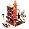 Городской космический строительный блок  наборы  шаттл  пусковой центр  ракета  кирпичи  техника  обучающие игрушки для детей  подарки