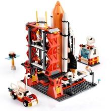 Stadt Raum Baustein sets Shuttle Launch Center Rakete Ziegel Technic modell Pädagogisches Spielzeug Für Kinder geschenke