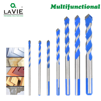 3 4 5 6 8 10 12mm Multi-functional Glass Drill Bit Triangle Bits Ceramic Tile Concrete Brick Metal Stainless Steel Wood 02075