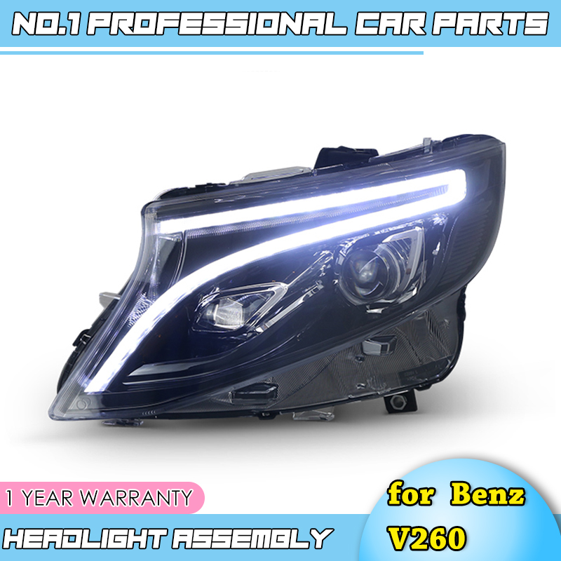 car accessories for Benz V206 ALL LED Headlight 2016-2017 for Mercedes-Benz Benz vito 2017 LED Headlight DRL Bi-LED Lens image