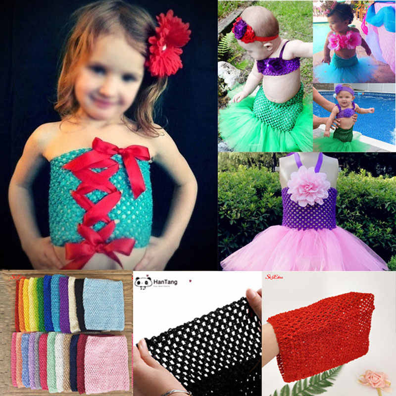 6/9inch Tutu Tube Tops Wrap Chest Bustier for Girls Self Made Set Happy Birthday Skirt Dress Accessories 8z