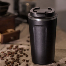 BAISPO  Stainless steel Eco friendly Travel Portable Mug Coffee milk Thermos cup Business style Creative Gifts mug Vaccum Flasks