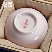 New Jingdezhen Handmade Hand painted Master Bowl Single Bowl Ceramic Bowl Kung Fu Tea Set Pastel Small Bowl Tea Bowl Wine Bowl
