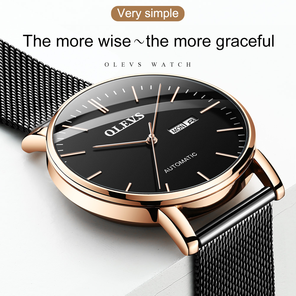 OLEVS 2020 New Mechanical Men Watches Japan Movement Luminous Automatic Men's Watches Top Brand