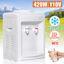 2L Electric Hot and Cold Water Cooler Dispenser Drinking Fountain For Home Office Use Desktop AC110V