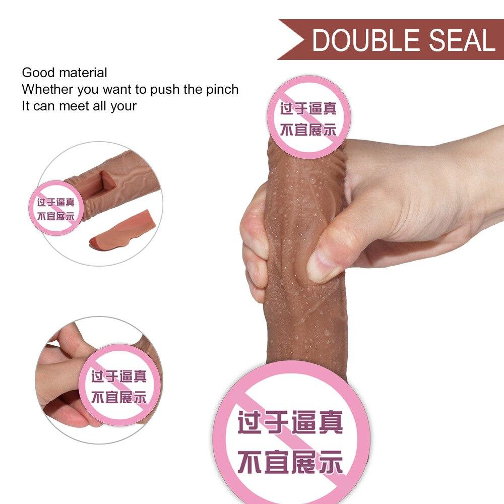 С реалистичной кожей имитирующий искусственный петух без запаха супер большой петух счастливое удовольствие реквизит для женщин