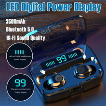 F9 Mini Bluetooth 5.0 Headset 3500MAH Capacity TWS Earphones LED Twins Earbuds I