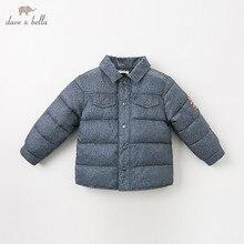 DB11755 dave bella/зимняя куртка для маленьких мальчиков детская модная верхняя одежда детское однотонное пальто на молнии
