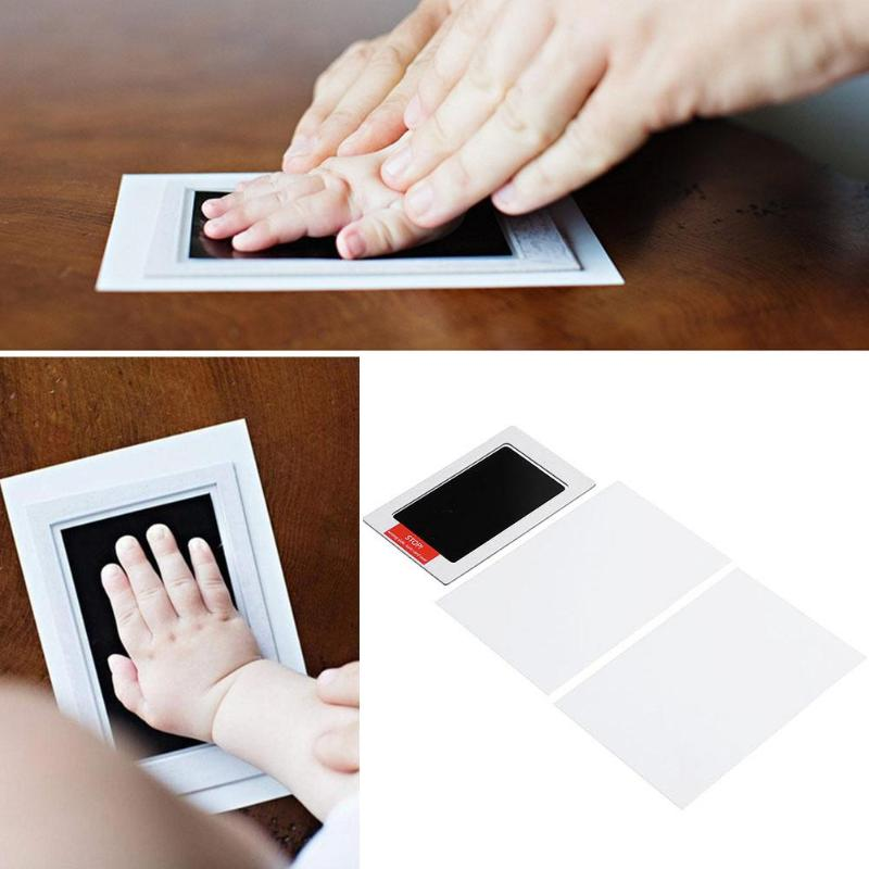 Baby Handprint Footprint Non-Toxic Infant Imprint Hand Inkpad Newborn Souvenirs High-tech Anti-cross-infection Disposable