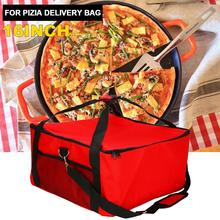 цена на High Quality Protable 16 Inch Pizza Cake Delivery Bag Picnic Package Red Insulated Thermal Food Storage Holder