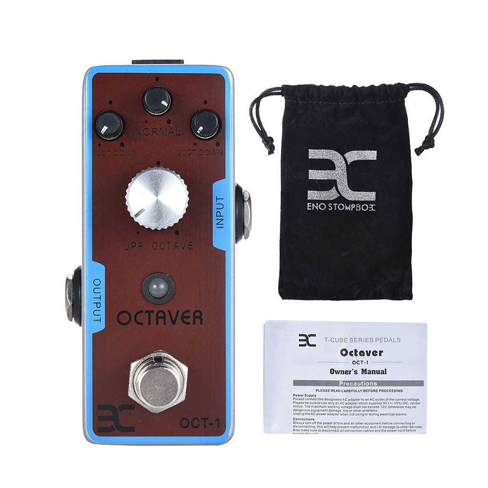 ENO EX OCT-1 OCTAVE Mini oktav gitar efekt Pedal gerçek Bypass tam Metal kabuk gitar parçaları ve aksesuarları