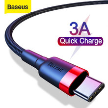 Carregador rápido tipo c cabo de baseus usb c cabo para samsung s20 s10 qucik carga 3.0 usb c cabo de fio de telefone cabo usb tipo c cabo