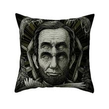Polyester Pillows Cover 45x45cm Halloween Pillow Cases Horror Pattern For Sofa  Car Home Decorative Cushion Cover home decorative black white cushion cover embroidered square embroidery pillow cover 45x45cm sofa geometric decorative pillows