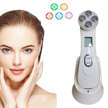 Face Massager Facial Mesotherapy Electroporation RF Radio Frequency LED Photon Face Lifting Tighten Wrinkle Removal Skin Care rf radio frequency led photon facial mesotherapy electroporation face lifting tighten wrinkle removal skin care face massager