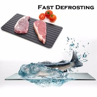 Aluminium Fast Defrosting Tray Frozen Food Meat Defrost Kitchen & Dining Thawing Metal Board Plate NO Electricity Kitchen ToolS|Chopping Blocks| |  -