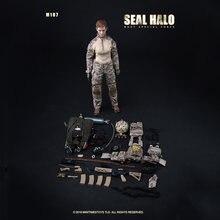 Игрушки 1/6 солдат m 017 женский уплотнение halo прыжок с парашютом