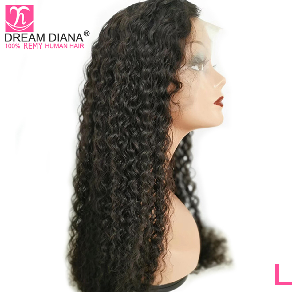 DreamDiana Brazilian Curly Full Lace Wig 8