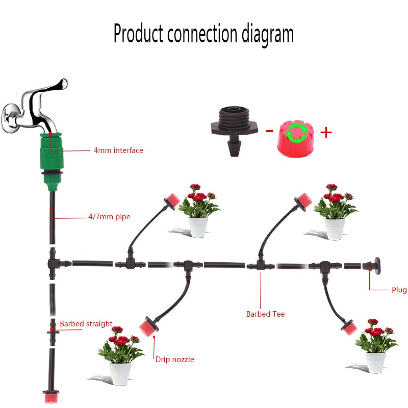 H5ab5d18c930446b6b97873fd6eac8b2aD 50M 4/7MM Greenhouse Garden Irrigation Automatic Watering Pipe Fittings Accessories Automatic Accessories Drip Drip Irrigation
