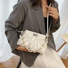 Плиссированные дамские сумочки пельменей новинка 2020 модные