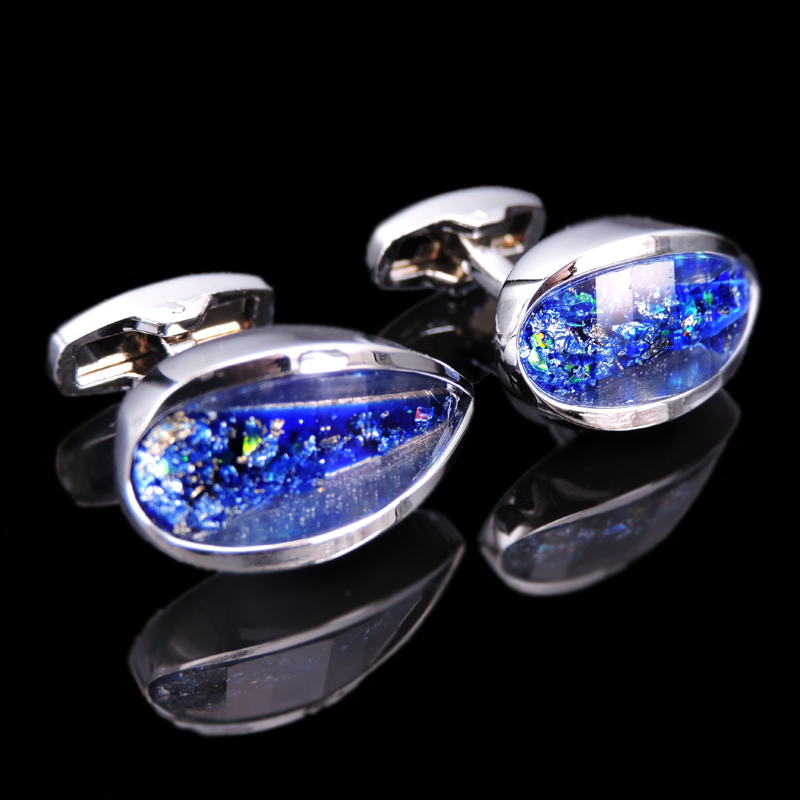 Free Shipping, High Quality Luxury Men's Shirt CUFFLINKS NEW 3D Crystal Cufflinks Classic Water Drop Design Crystal Cufflinks
