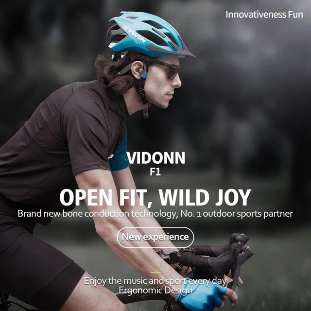 Vidonn F1 Bone Conduction Headphones Earphone Bluetooth 5 0 Titanium Open Ear Wireless Sports Headset
