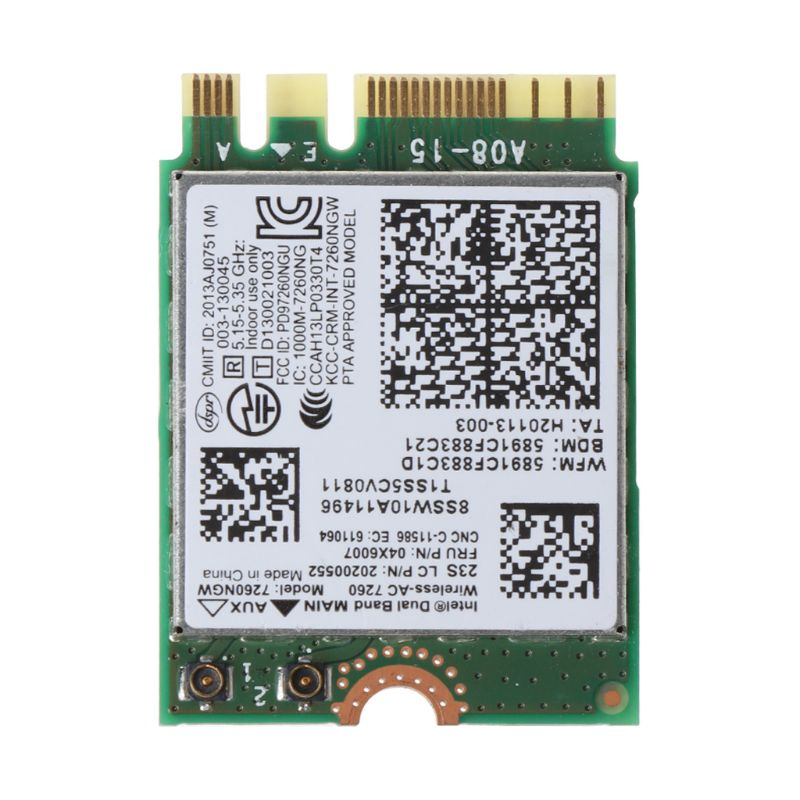 For ThinkPad X240 T440 T540P L440 5G Dual Band 7260NGW AC FRU:04X6007 Adapter X6HB