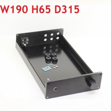 새로운 DIY 앰프 디코더 섀시 DAC 헤드폰 앰프 케이스 Hifi 인클로저 프리 앰프 알루미늄 박스 D315 W190 H65 WA2