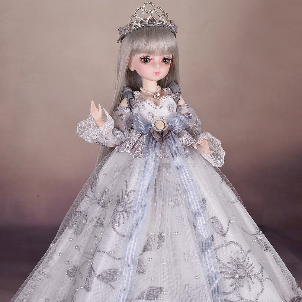 BJD Doll 45CM 1/4 SD Girls Dolls With Full Outfits Makeup Royal Style Dress Shoes Toys For Girls Collection
