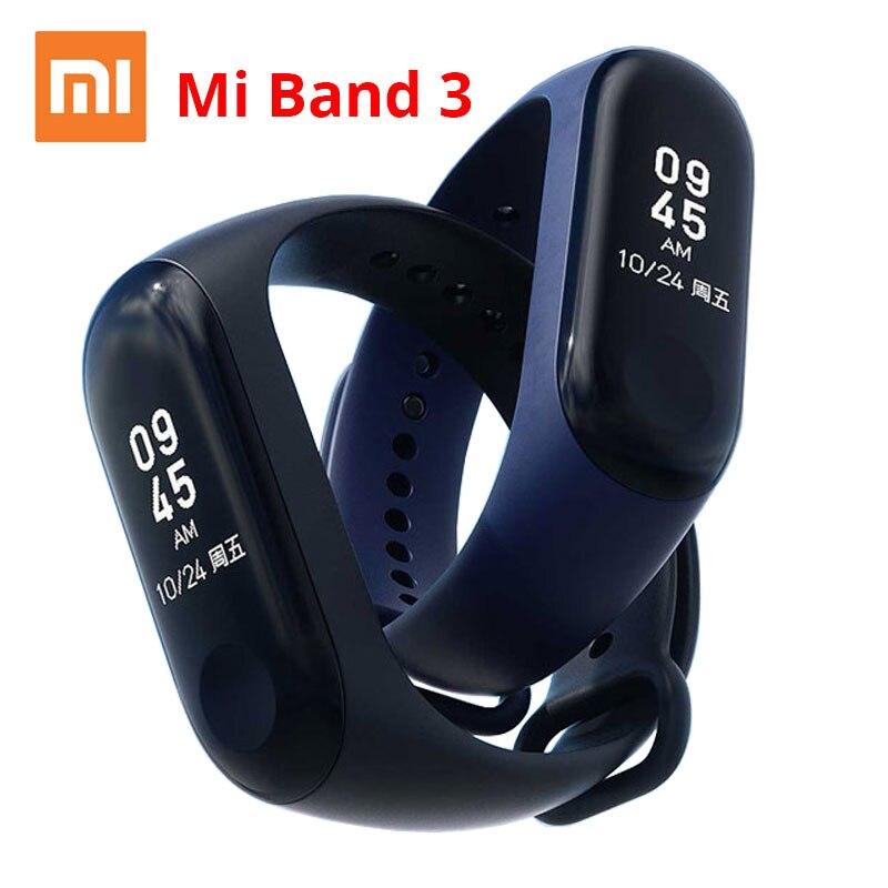 Xiaomi Mi Band 3 Miband 3 Smart Wristband Passometer OLED Waterproof Heart Rate Sleep Monitor Fitness Activity Tracker