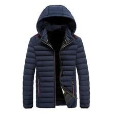Mens Winter Leisure Warm Down Cotton Jacket Parkas Hooded Coat Suit Windbreaker