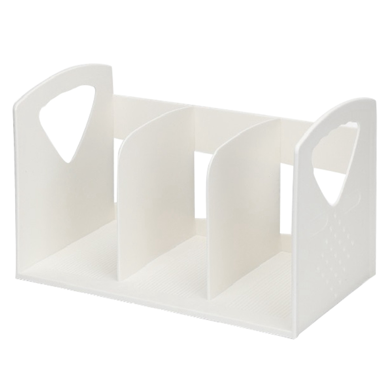 Creative Multi-Function Office File Rack Multi-Layer Vertical Book Stand Rack Abs Plastic Storage Rack File Storage Box Bookend