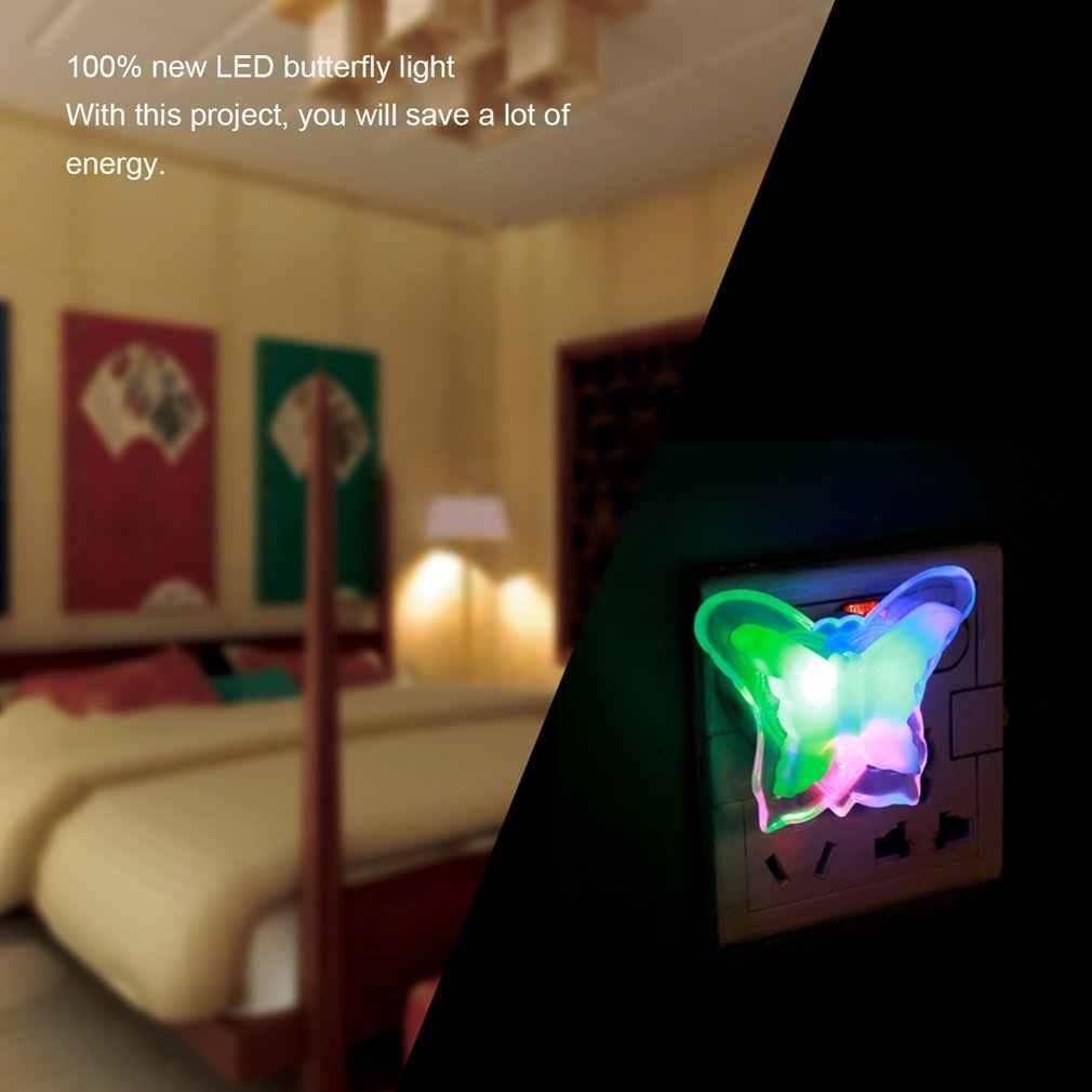 Alta qualidade nova borboleta quarto noite lâmpada de luz linda casa lâmpada led, quarto festa em casa plug decoração