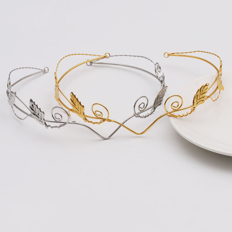 1pcs Leaf Headband Hair Hoop Headband DIY Wedding Jewelry Finding