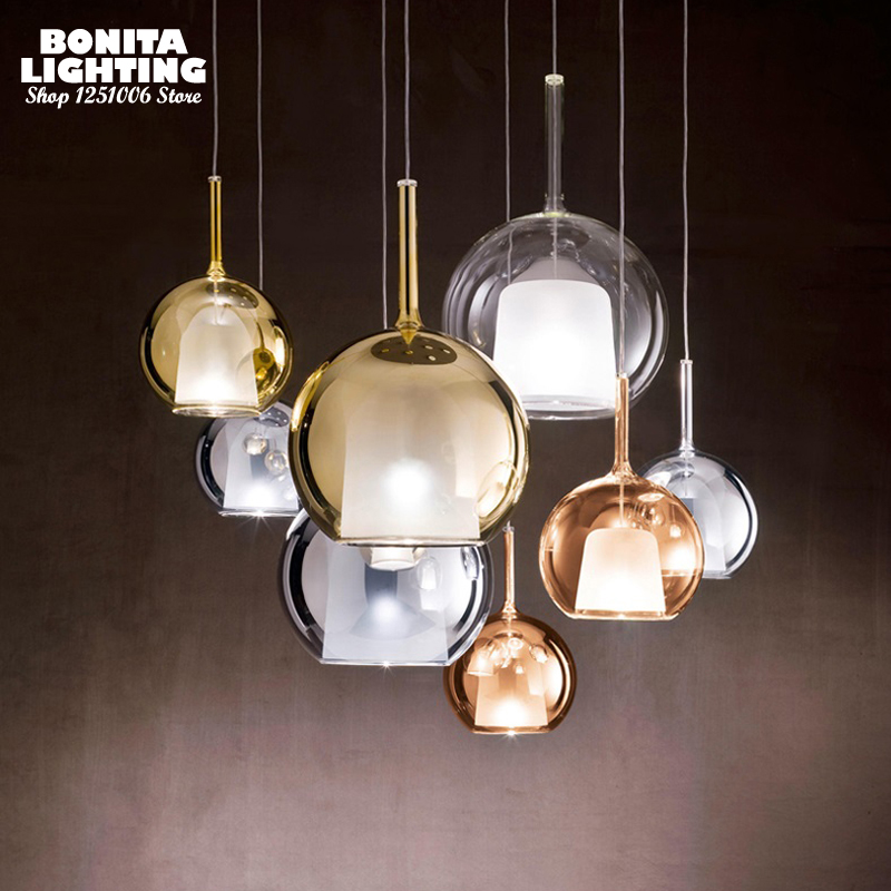Double Layer Bubble Glass Droplight, Modern Glass Hanging Lamps