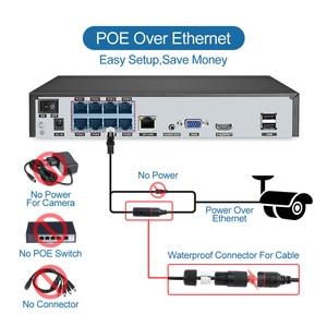 Image 5 - Techage 8CH 5MP HD POE NVR Kit système de sécurité CCTV deux voies Audio AI Face détecter caméra IP caméra de Surveillance vidéo extérieure ensemble de caméras