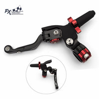 22mm Motorcycle Folding Extendable Stunt Clutch Perch Lever For Suzuki GSXR 600 750 1000 Aluminum Adjustable Cable Clutch Levers