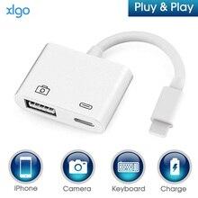 OTG цифровой адаптер для Lightning к USB 3 камера ридер Зарядки Комплекты синхронизации данных для iPhone X/XS/8 P/7/7 P/6/6 S