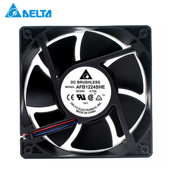 For delta AFB1224SHE 1238 12cm 120mm DC 24V 0.75A server inverter axial blower cooling fan цена 2017