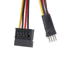 4-Pin FDD disket erkek 15-Pin SATA dişi dönüştürücü adaptör güç kablo kordonu R9JA