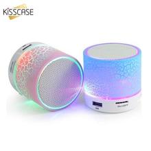 Bluetooth колонка, Беспроводная мини Колонка со светодиодной подсветкой, TF картой, USB сабвуфером, портативная музыкальная Колонка MP3 для ПК, мобильный телефон