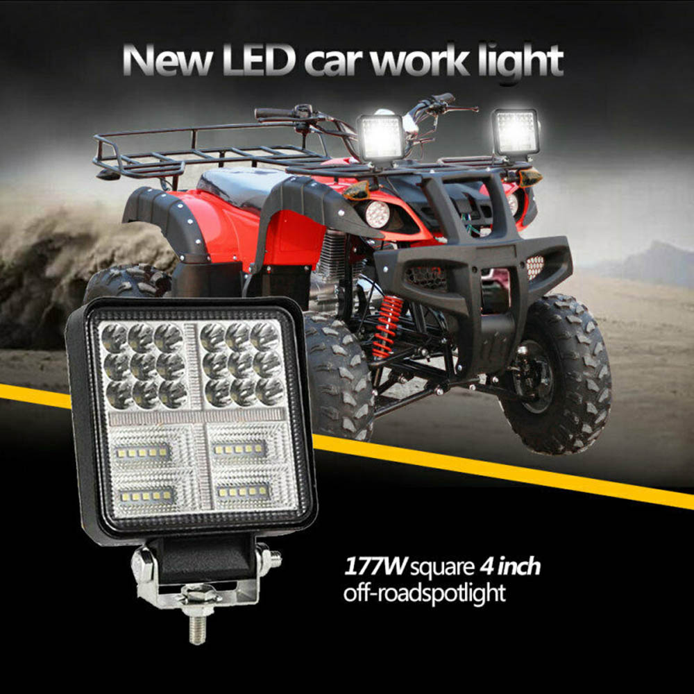 Work-Light Beam Offroad Driving Fog-Lamp Bar-Flood-Spot 4inch 1pc SUV 39 Leds Die-Cast