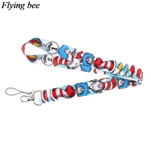 Flyingbee Dr Seuss Keychain Cartoon Cool Phone Lanyard Women Fashion Strap Neck Lanyards for ID Card Phone Keys X0624